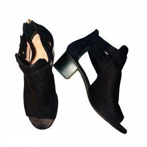 Cityclassified peep toe open side booties